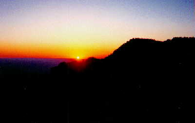 Sunset from Sandia Peak, NM (June 2002)